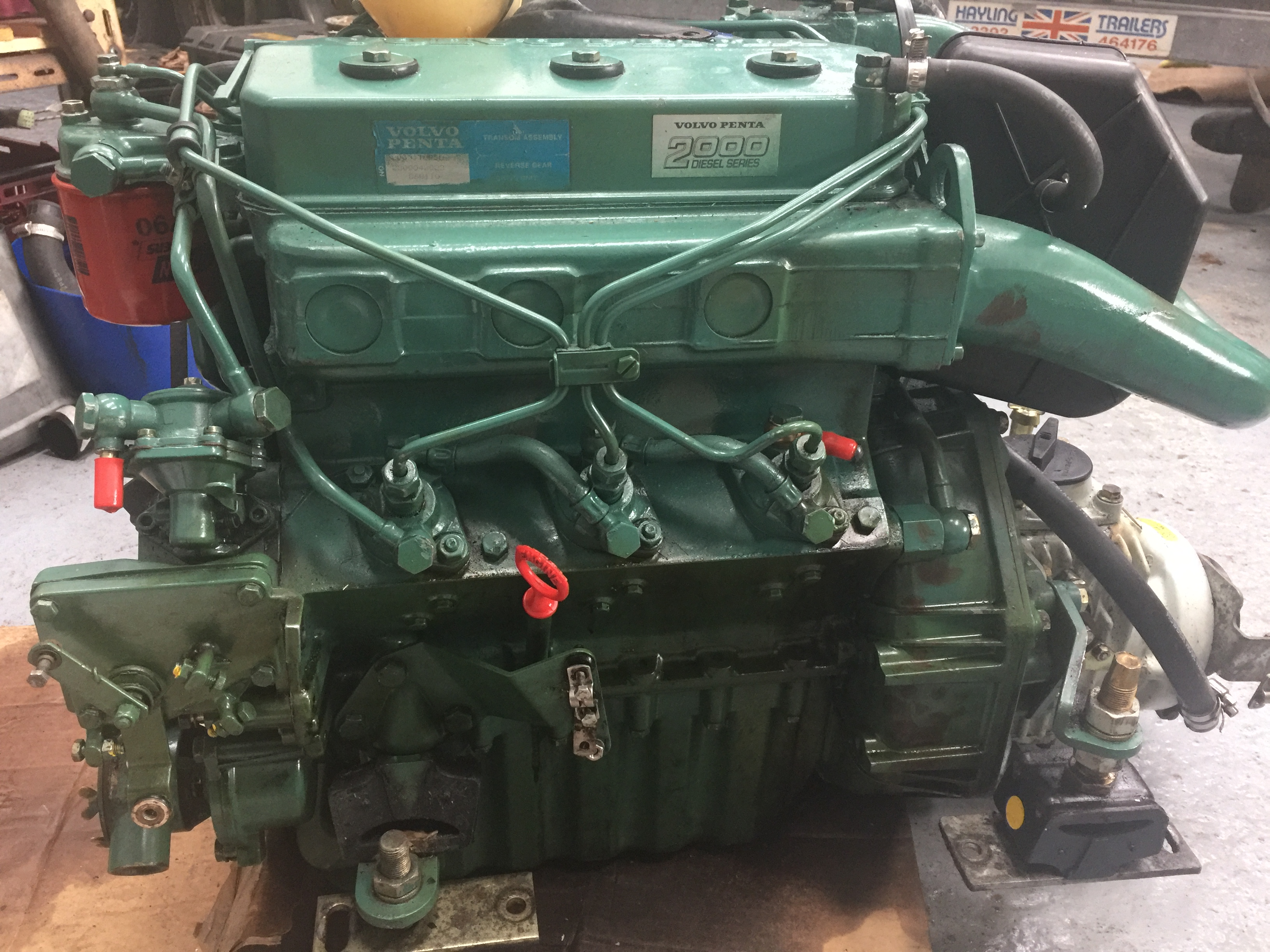 Volvo penta 2003T 43 Hp marine engine and gear box - Used - Marine Engineering Services
