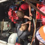 Boat engine installations