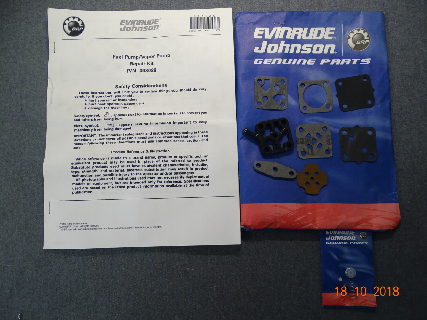 Evinrude Johnson Fuel pump repair kit 0393088